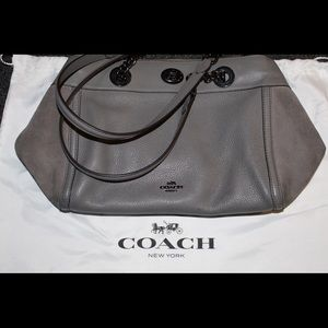 Coach 20165 purse mixed leather gray